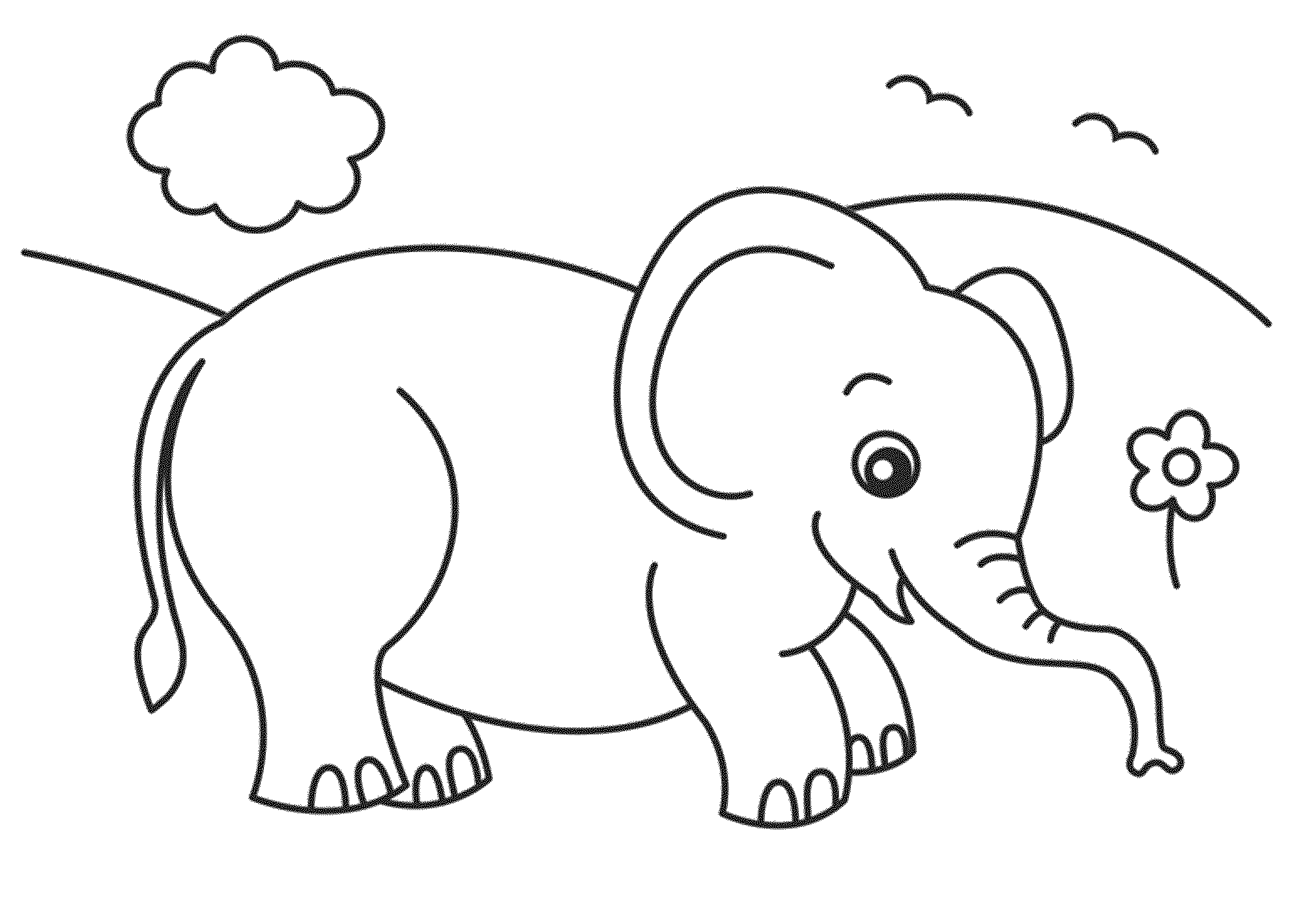 simple elephant coloring page baby elephant coloring pages to download and print for free page elephant coloring simple