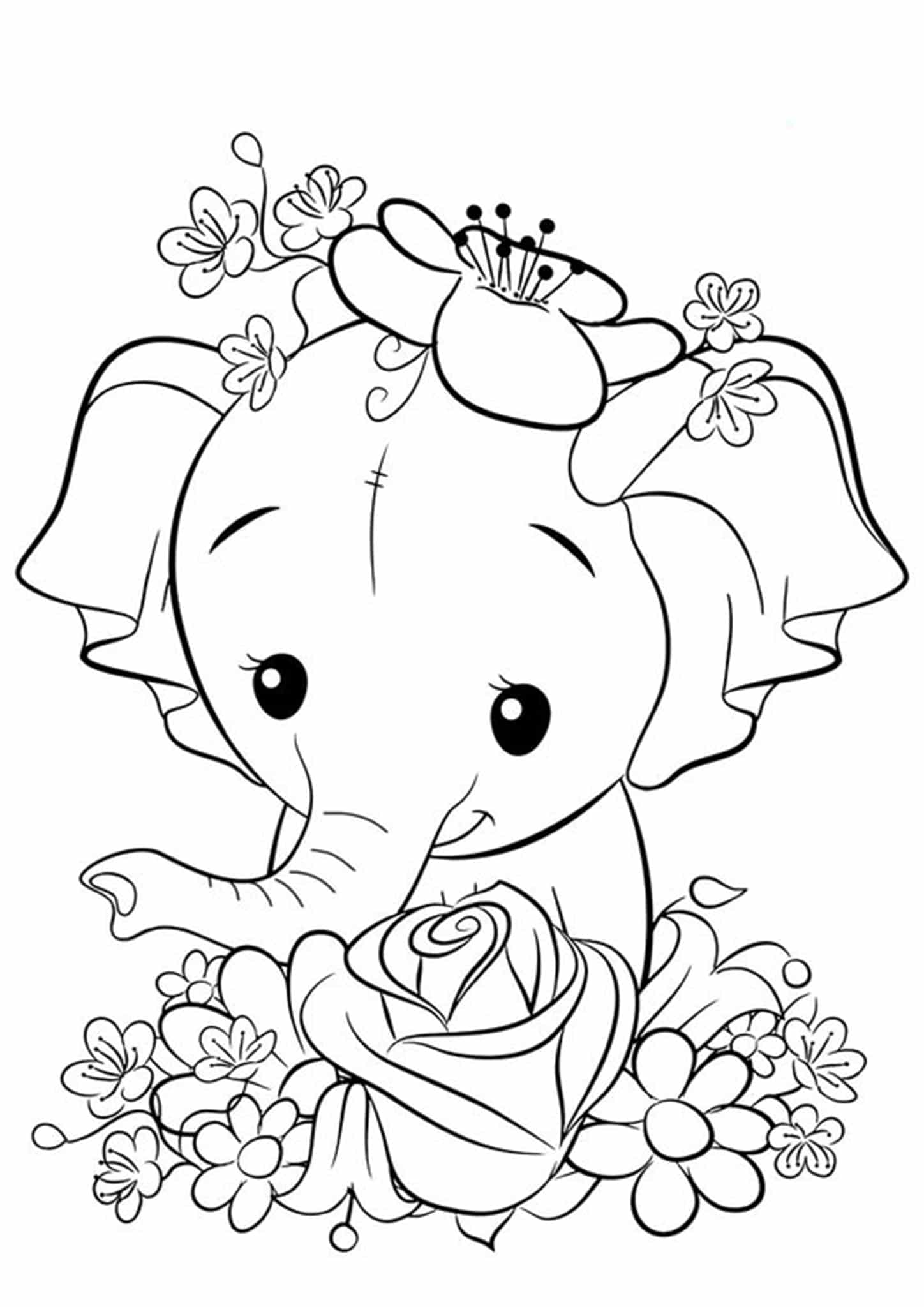 simple elephant coloring page coloring pages of elephants download and print for free page coloring elephant simple
