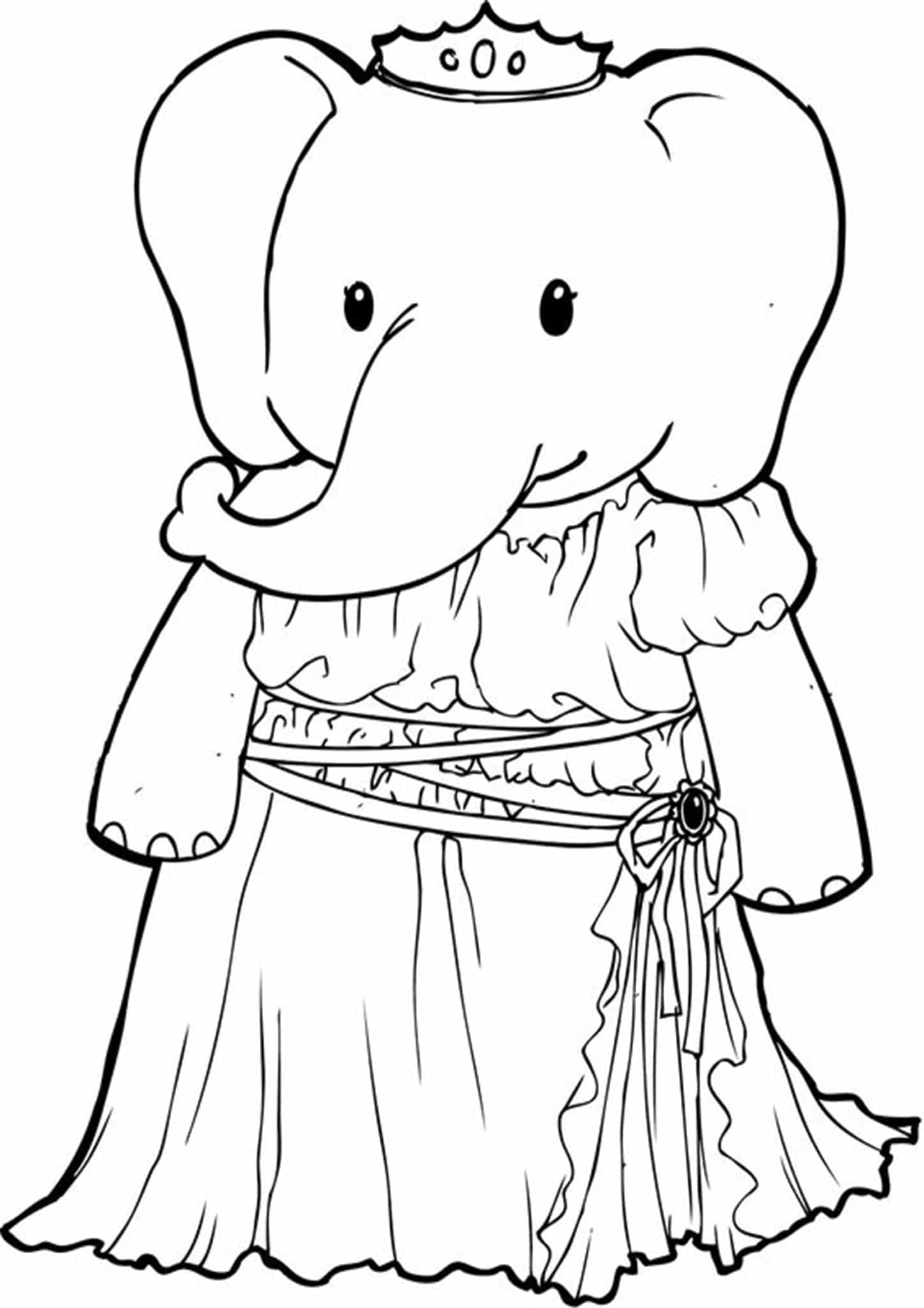 simple elephant coloring page elephant coloring pages coloring pages to download and print elephant coloring simple page