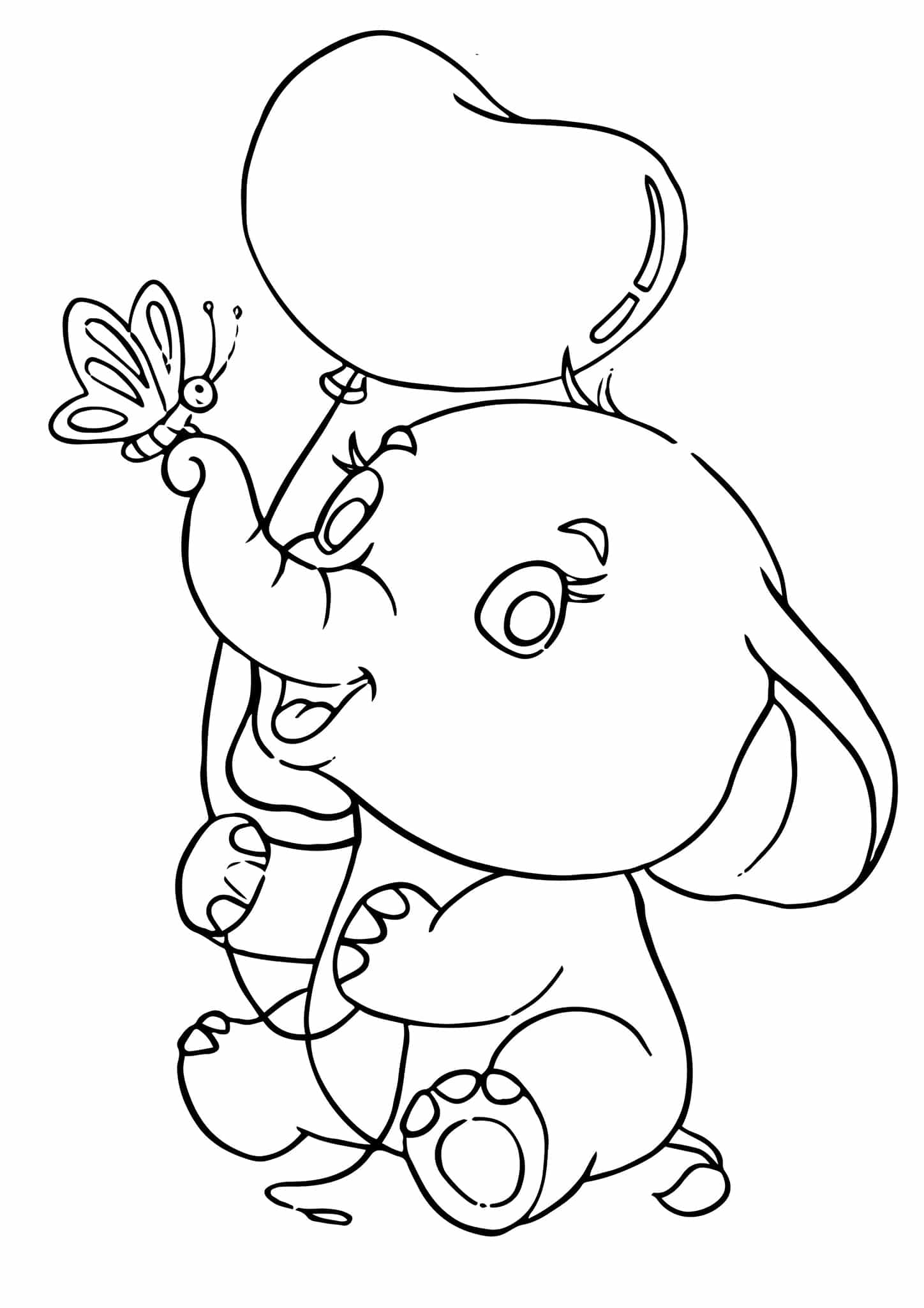 simple elephant coloring page elephant coloring pages for adults best coloring pages page simple coloring elephant