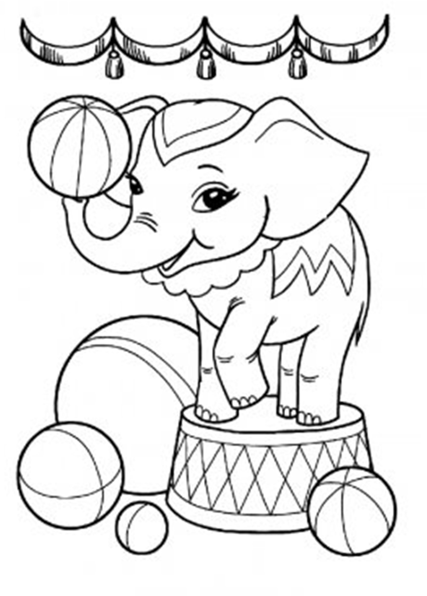 simple elephant coloring page elephant coloring pages for kids preschool and kindergarten simple page coloring elephant