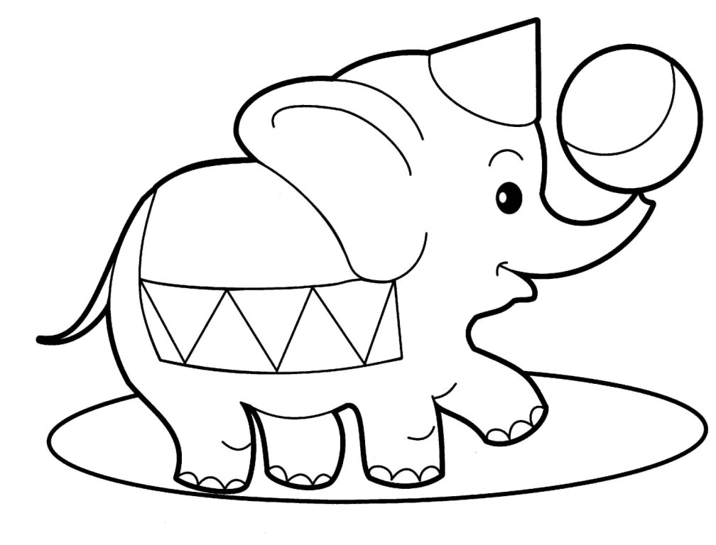 simple elephant coloring page elephant coloring pages for kids printable for free elephant page coloring simple