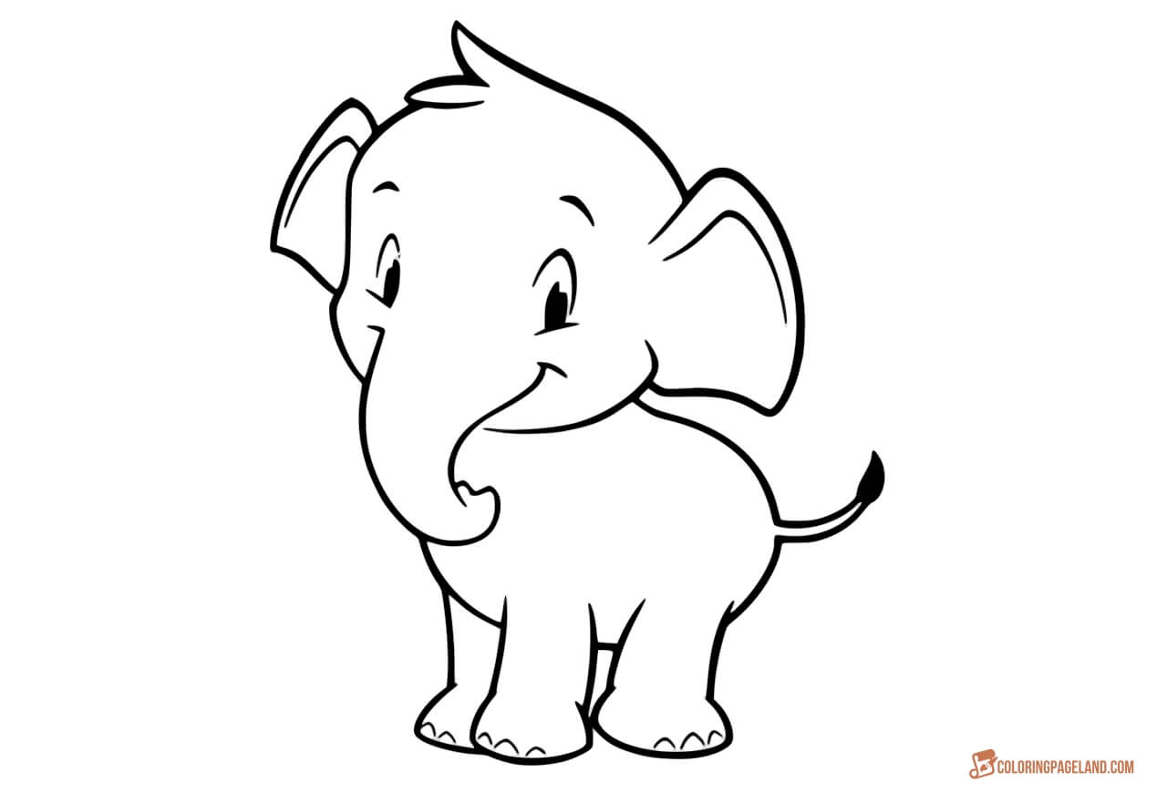 simple elephant coloring page free easy to print elephant coloring pages tulamama coloring elephant simple page