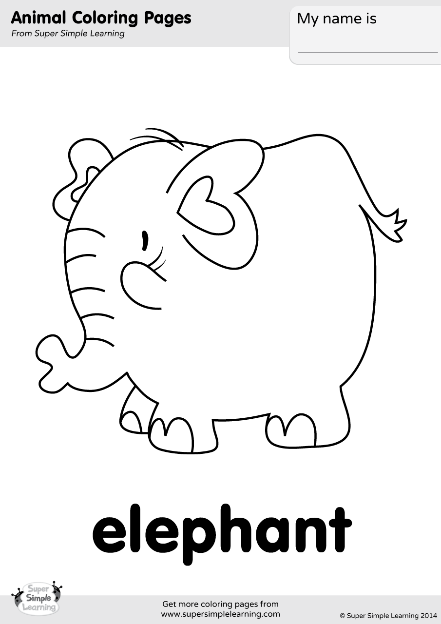 simple elephant coloring page free easy to print elephant coloring pages tulamama coloring page elephant simple