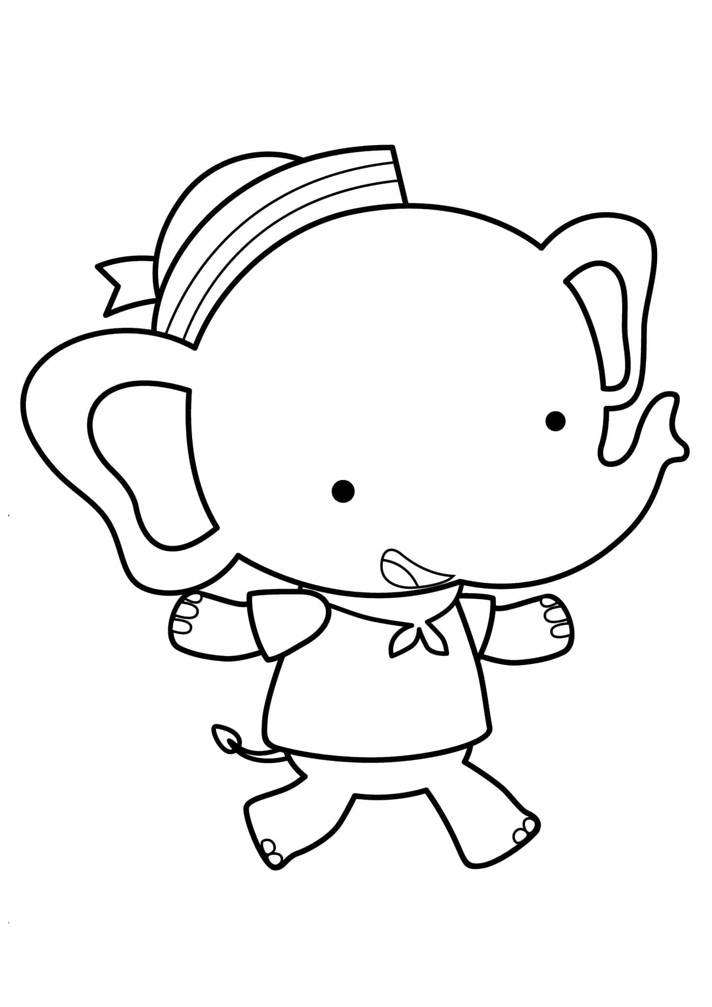 simple elephant coloring page free easy to print elephant coloring pages tulamama page simple coloring elephant