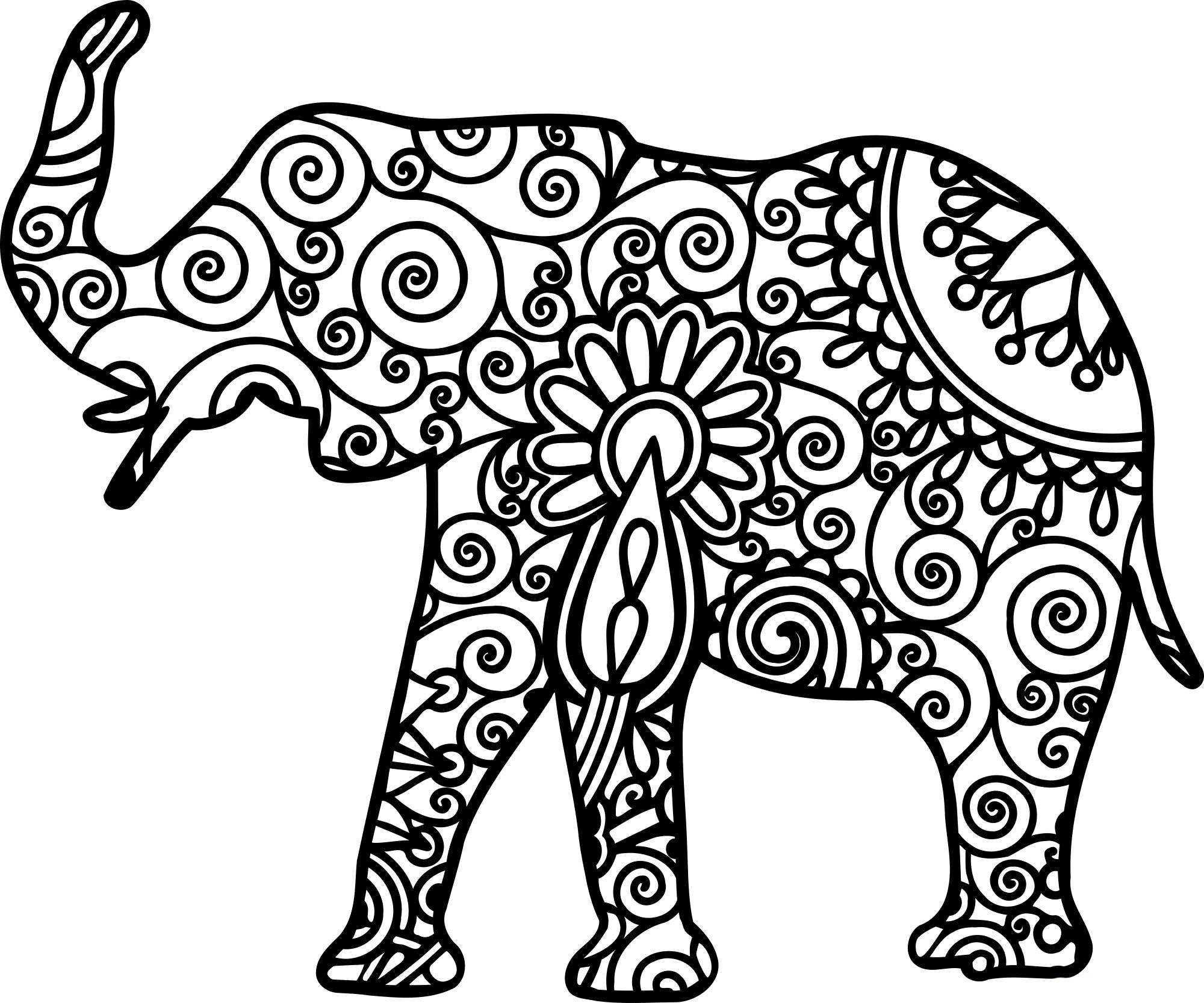 simple elephant coloring page free elephant coloring pages coloring elephant simple page