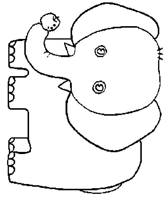 simple elephant coloring page free elephant coloring pages coloring page simple elephant