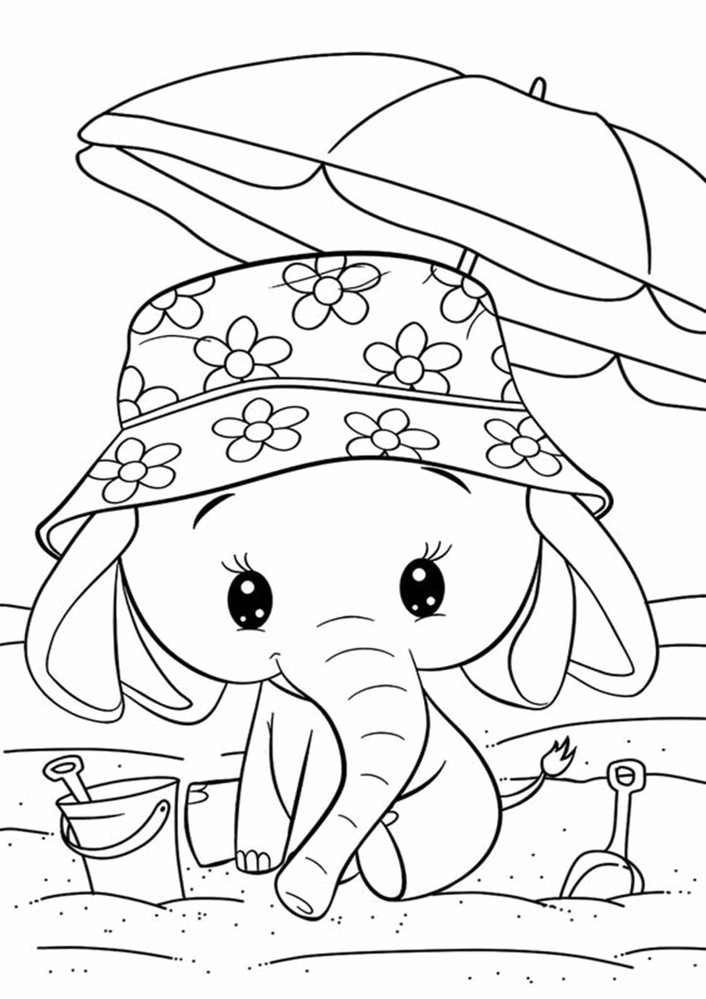 simple elephant coloring page free elephant coloring pages page coloring simple elephant