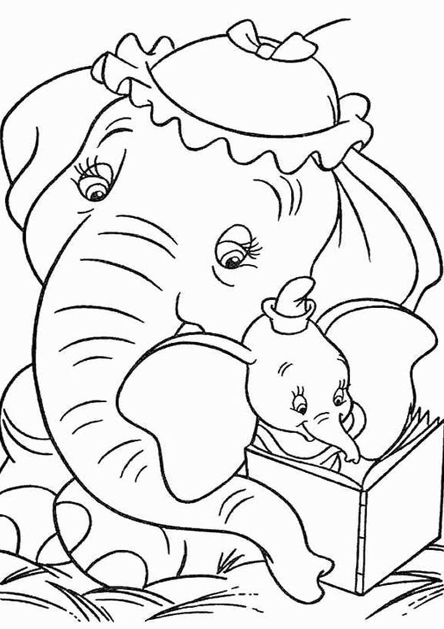 simple elephant coloring page free elephant coloring pages simple coloring page elephant