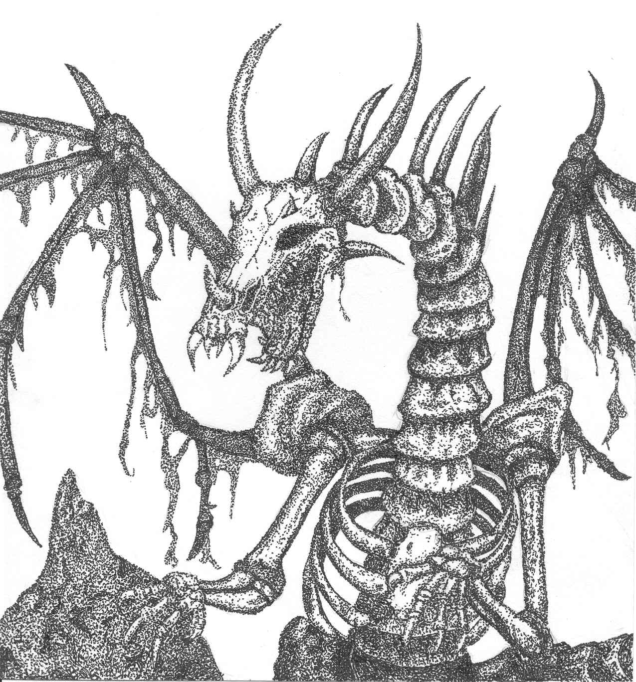 skeleton dragon coloring pages large fanged bone dragon by bakurafanlover on deviantart pages coloring dragon skeleton