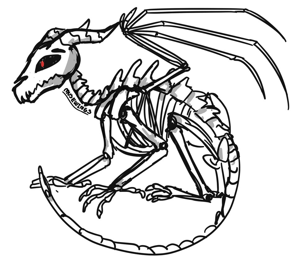 skeleton dragon coloring pages skeleton dragon 4 kieha wip by happymonkeyshoes on pages coloring skeleton dragon