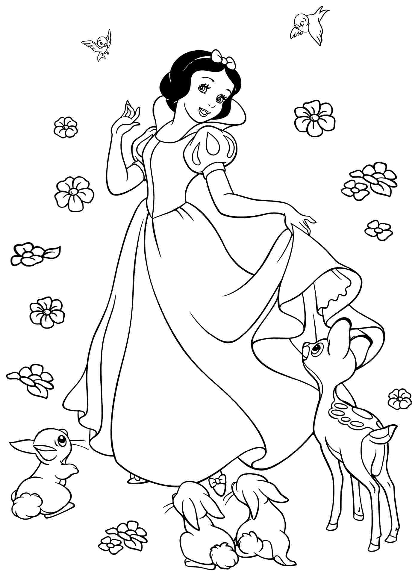 snow white color free printable snow white coloring pages for kids color snow white