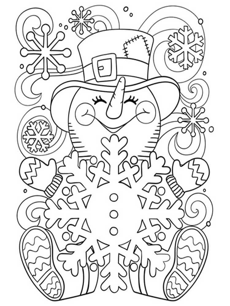 snowflake coloring pages for adults free 23 coloring pages in ai for adults in ai adults coloring snowflake pages for
