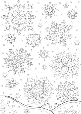 snowflake coloring pages for adults printable snowflake coloring pages for kids pages coloring snowflake for adults