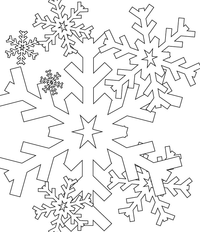 snowflake pictures to color coloring page snowflake with snowmen snowflake pictures color to