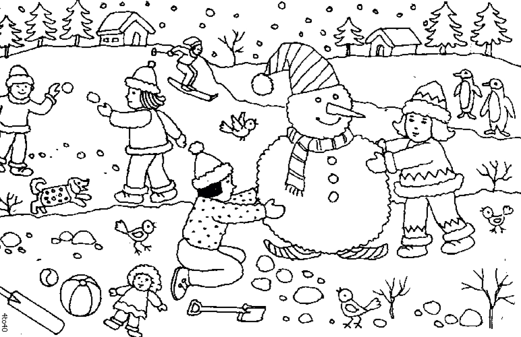 snowy day coloring page on a snowy day coloring page free coloring pages online page coloring snowy day