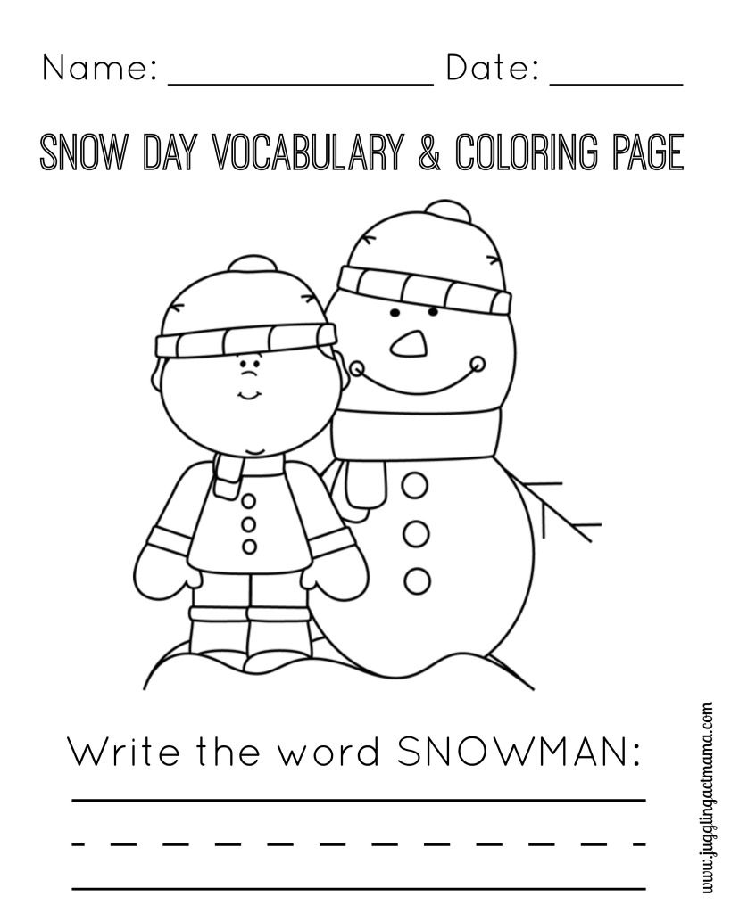 snowy day coloring page snow coloring pages day snowy page coloring