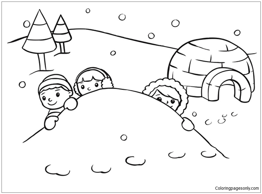 snowy day coloring page snow day coloring page at getcoloringscom free day snowy page coloring