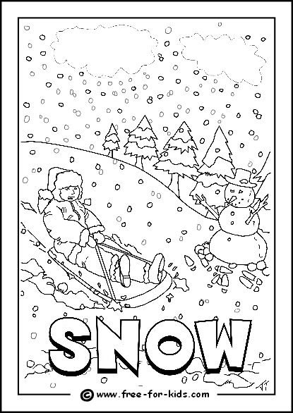 snowy day coloring page snow day coloring page book for kids page day coloring snowy