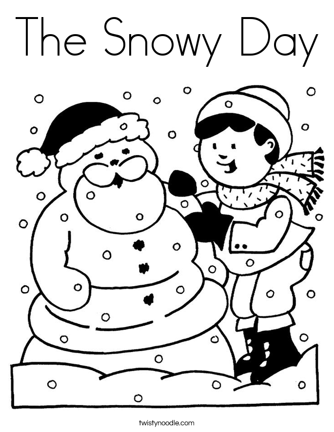 snowy day coloring page snow day coloring pages coloring home day coloring page snowy