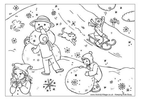 snowy day coloring page snow day colouring page day page snowy coloring