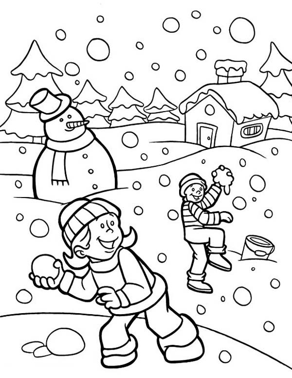 snowy day coloring page snowy day worksheet educationcom page day coloring snowy