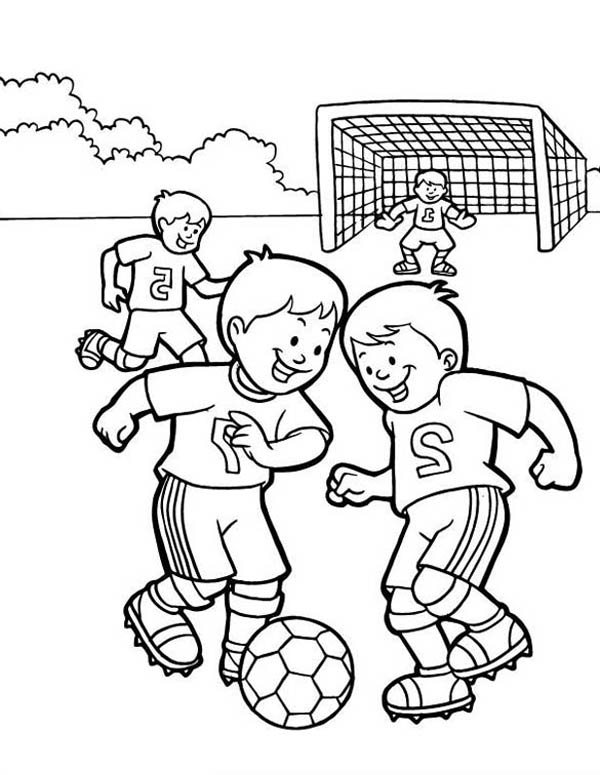 soccer player coloring pages a group of kids playing soccer in the school yard coloring coloring player soccer pages
