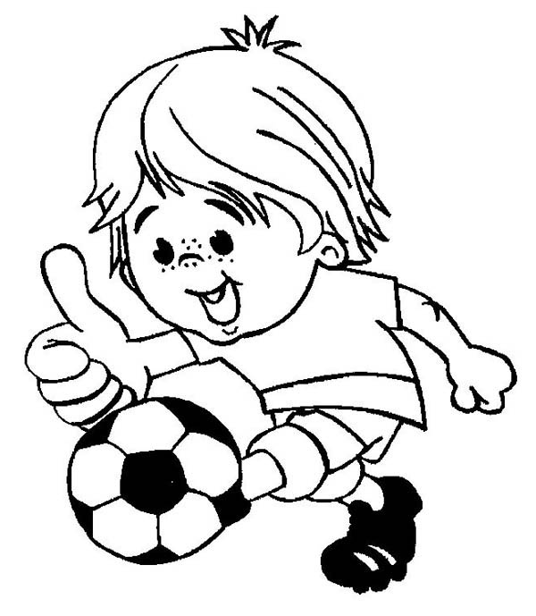 soccer player coloring pages this little boy is playing soccer happily coloring page pages coloring soccer player