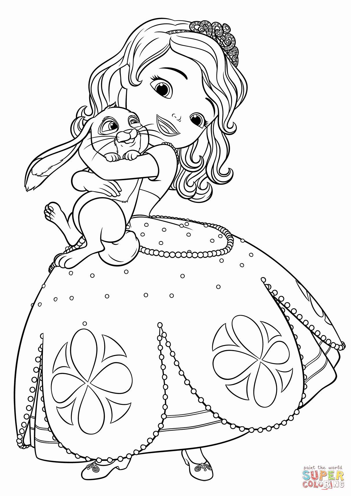 sofia the princess coloring pages clover the rabbit from sofia the first coloring page pages sofia coloring the princess