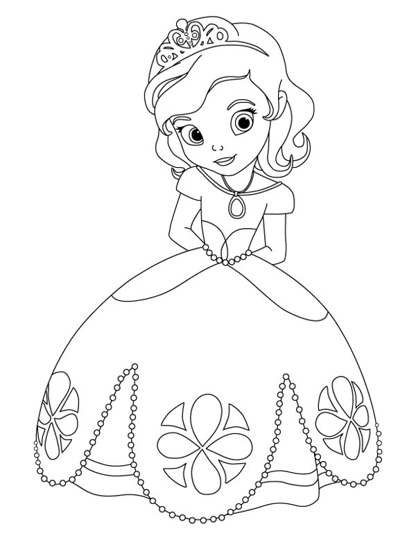 sofia the princess coloring pages sofia coloring page coloring home coloring sofia princess the pages