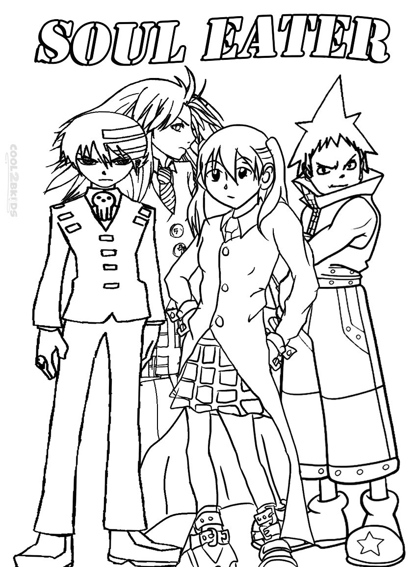 soul eater coloring pages printable soul eater coloring pages for kids cool2bkids pages soul eater coloring
