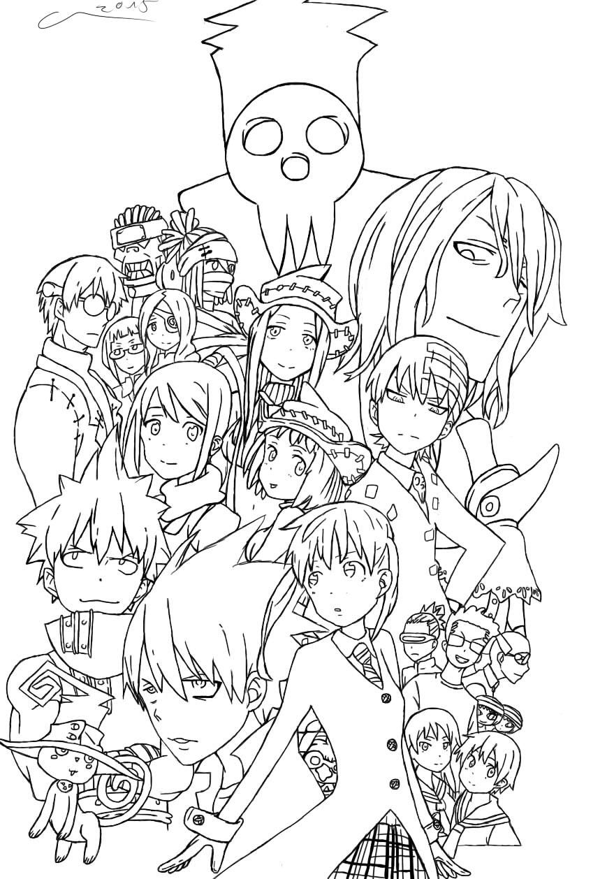 soul eater coloring pages printable soul eater coloring pages for kids cool2bkids soul pages eater coloring