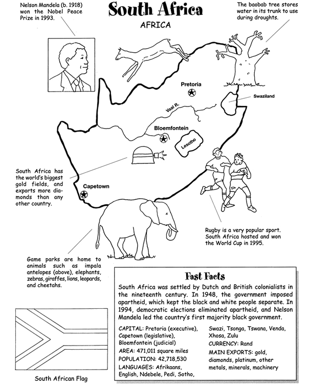 south africa coloring sheet outline map of africa with countries coloring page free south sheet africa coloring