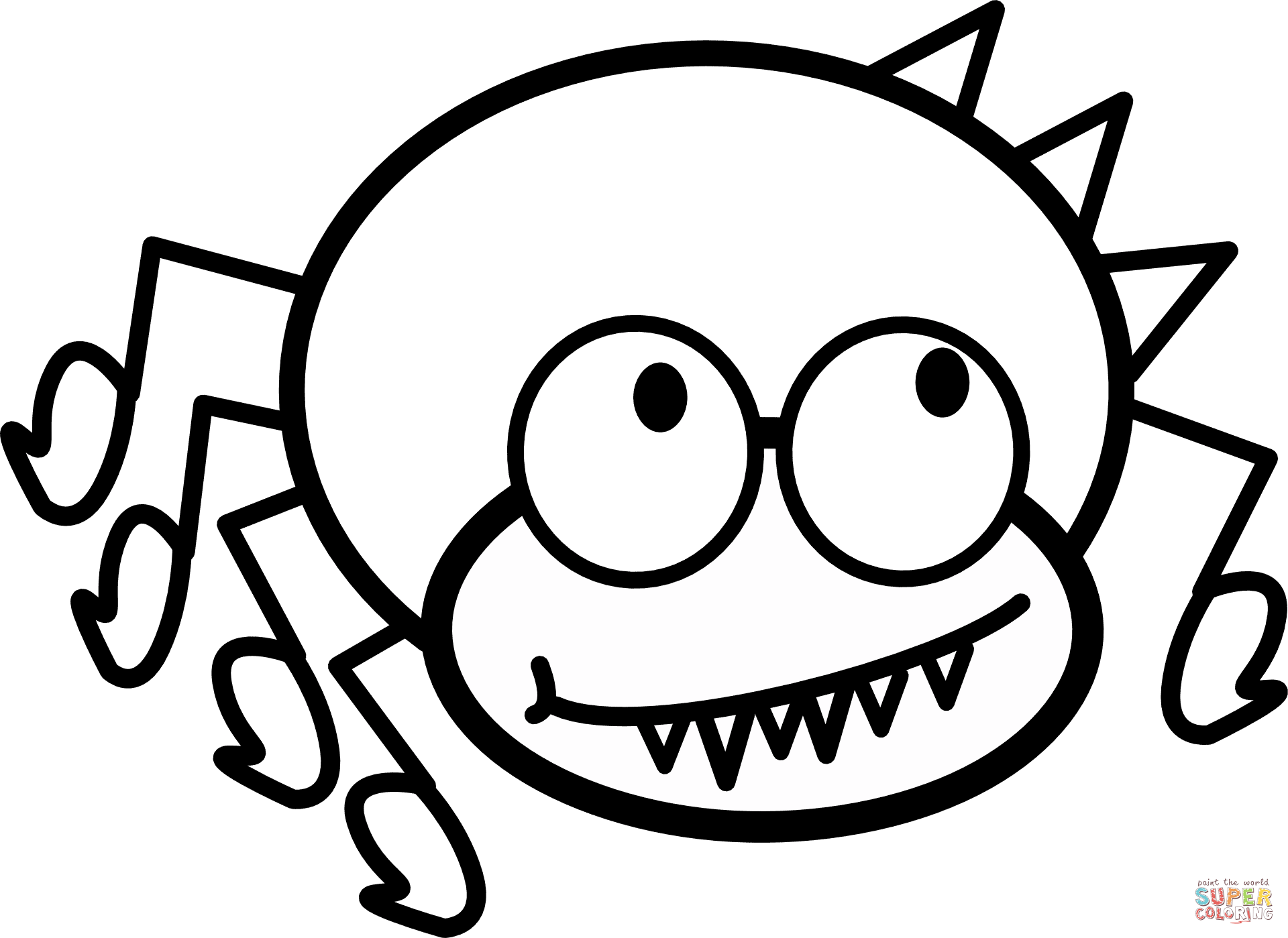 spider coloring page free printable spider coloring pages for kids page coloring spider