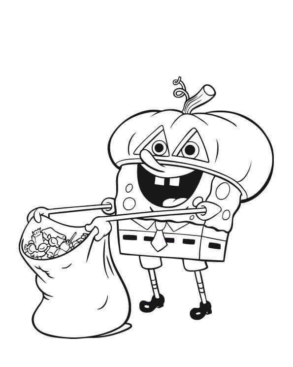 spongebob halloween coloring pages pin by k on coloring book pics halloween coloring pages halloween coloring spongebob pages