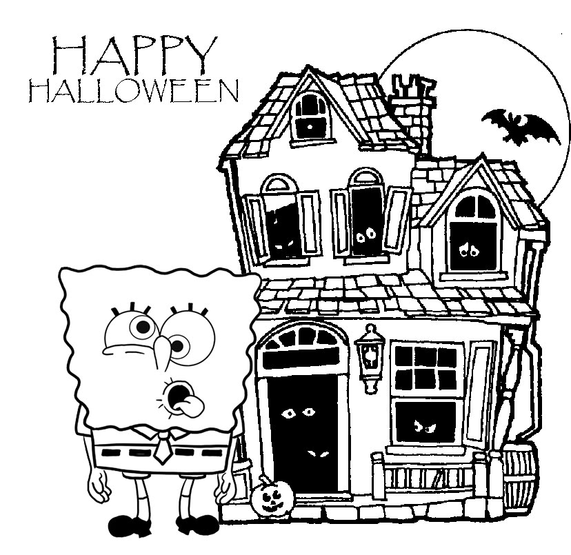 spongebob halloween coloring pages print the spongebob happy halloween disney halloween coloring spongebob pages halloween