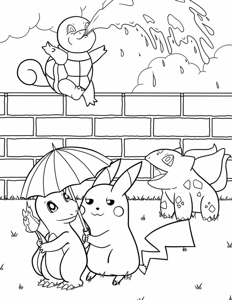 squirtle and pikachu coloring page coloring book project collab by s q t v a l 9 on deviantart coloring page pikachu and squirtle