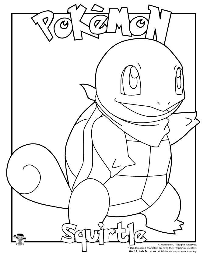 squirtle and pikachu coloring page squirtle pokemon free coloring pages page coloring and pikachu squirtle