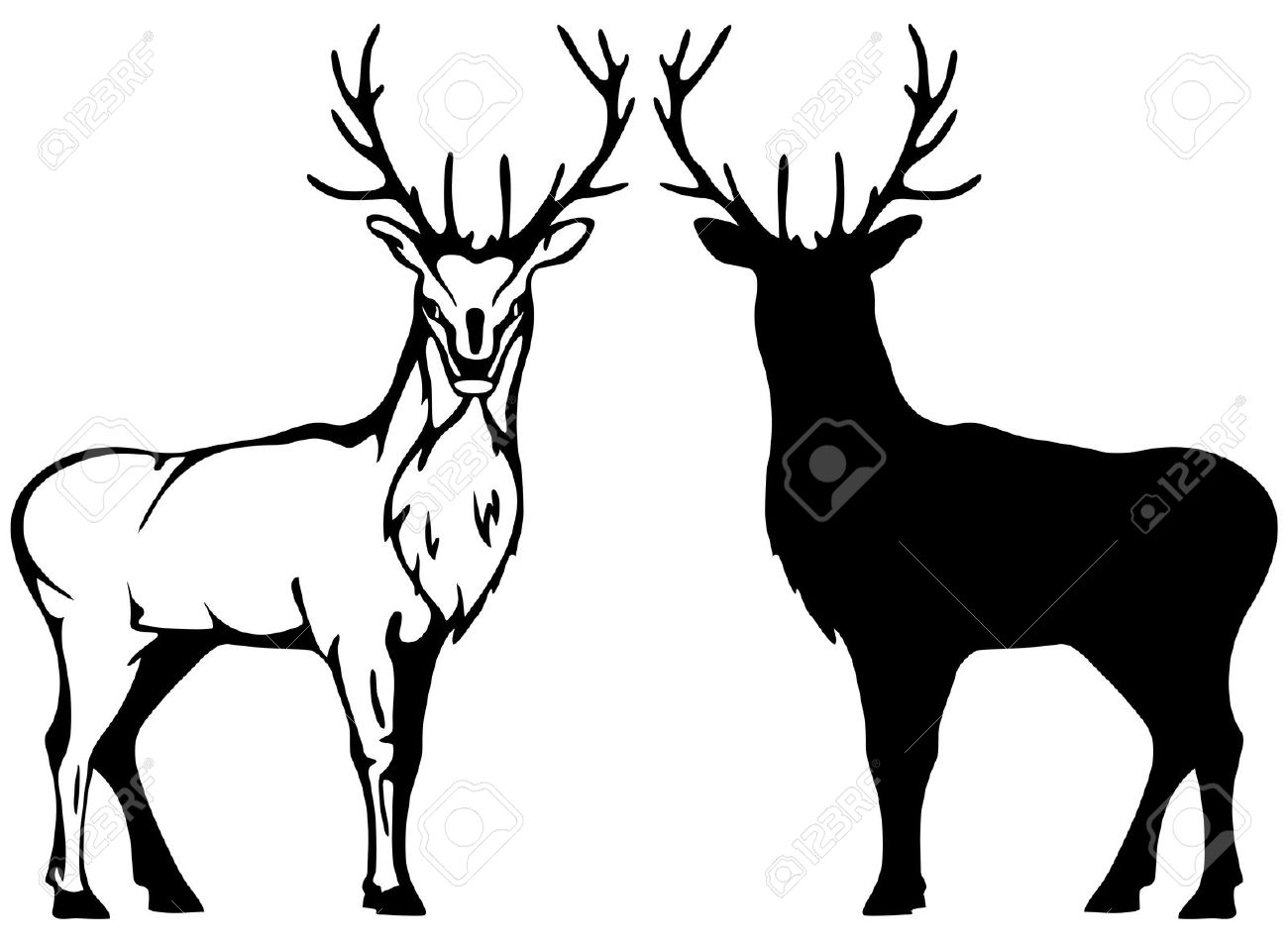 stag silhouette buck silhouette clipart clipground stag silhouette
