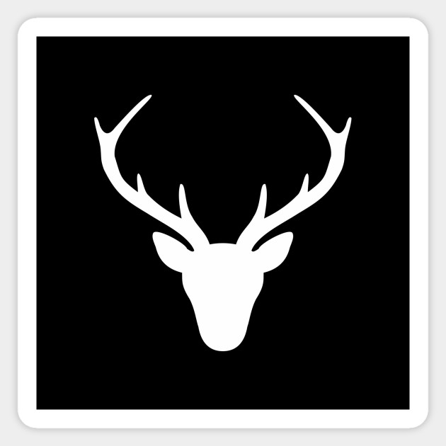 stag silhouette stag antler silhouette hunting hunter gift deer antlers silhouette stag