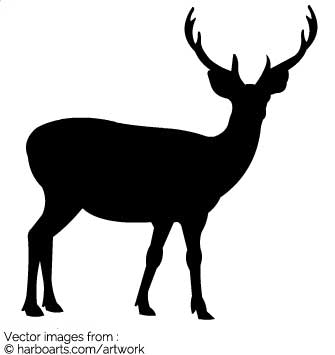 stag silhouette stag silhouette vector at vectorifiedcom collection of stag silhouette