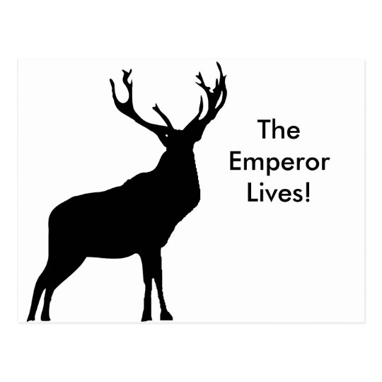 stag silhouette stag silhouette with big antlers postcard zazzlecouk silhouette stag