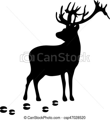 stag silhouette stag silhouette with the trails on an isolated background silhouette stag