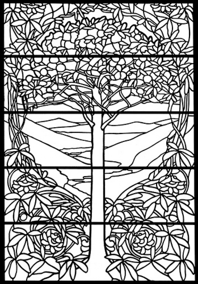 stained glass coloring page printable adult coloring pages stained glass coloring home coloring glass page stained