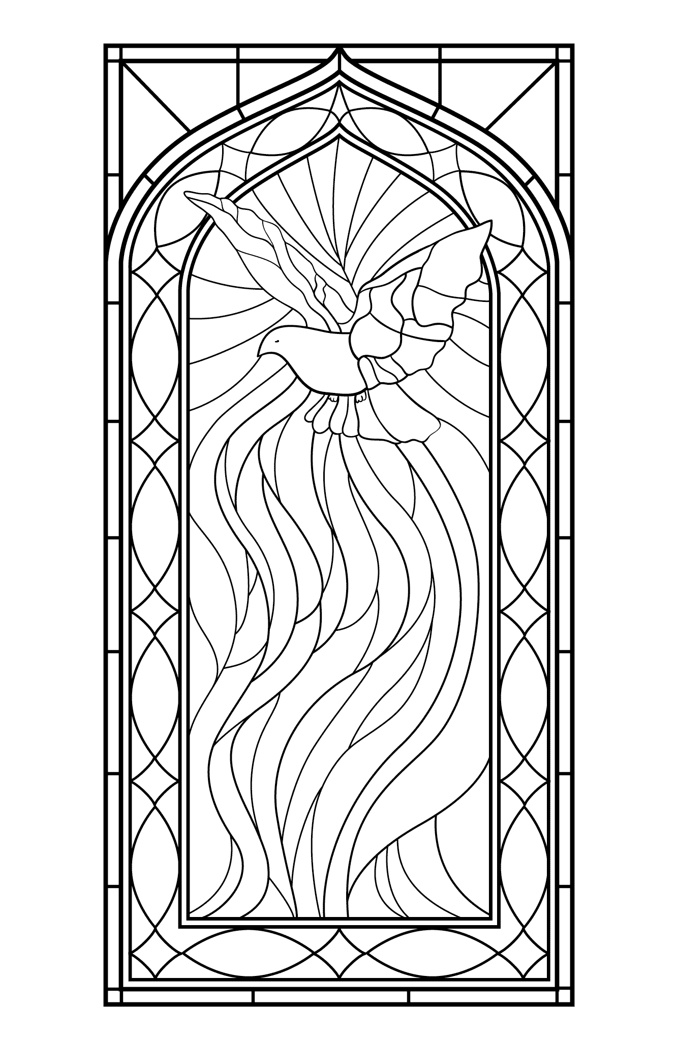 stained glass coloring page stained glass cross coloring page at getcoloringscom stained glass coloring page