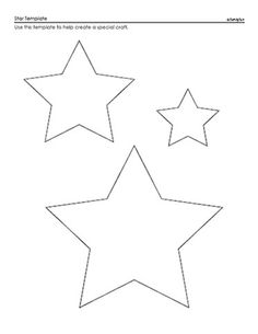star printable 6 best images of 3 inch printable star pattern 10 inch printable star