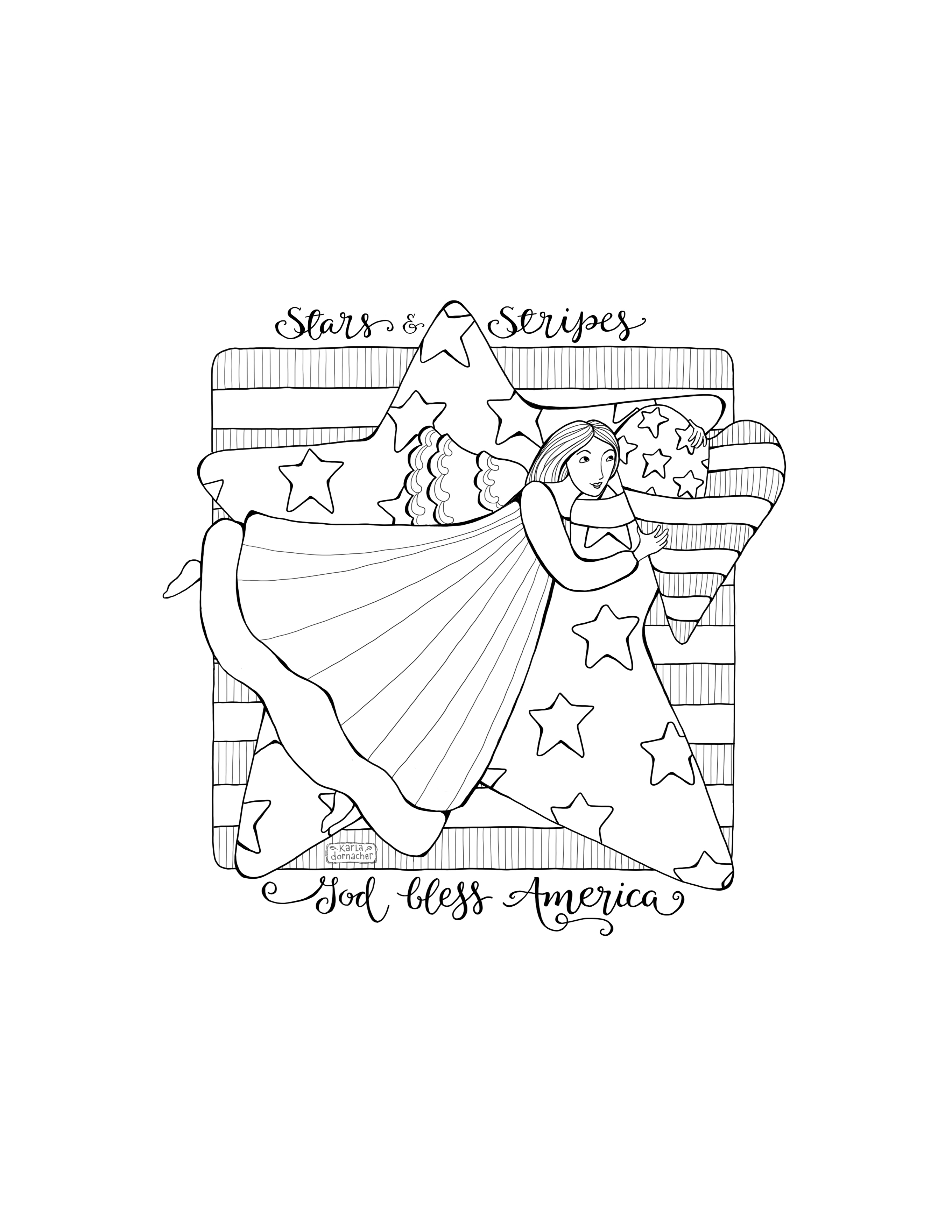 stars and stripes coloring pages free coloring page with color pencil video and tips stars and stripes coloring pages