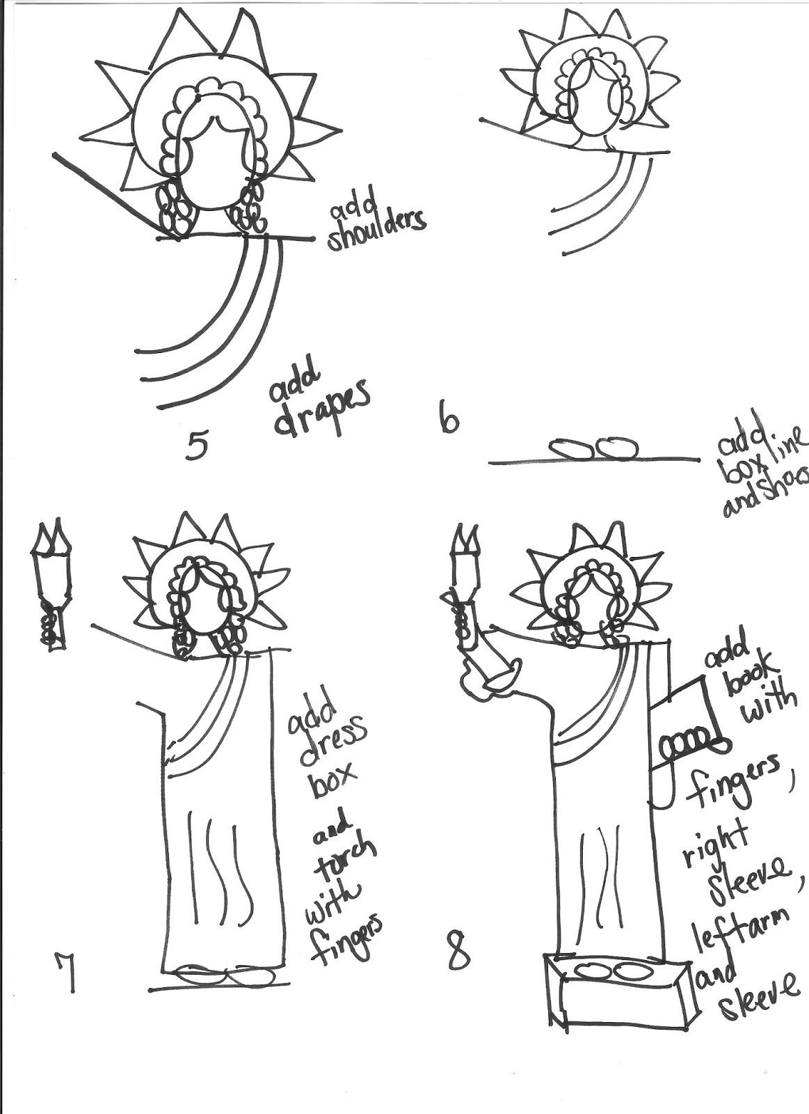 statue of liberty drawing step for step how to draw statue of liberty step by step drawingforallnet statue step drawing liberty step of for