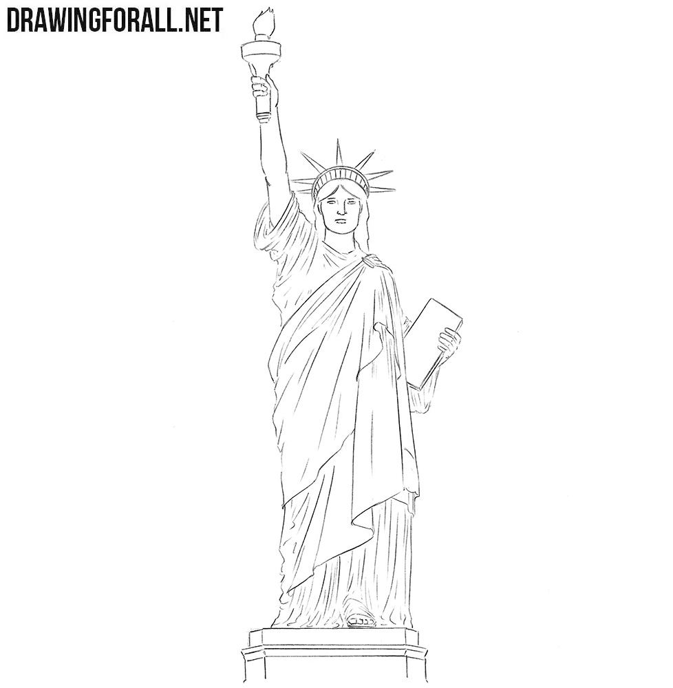 statue of liberty drawing step for step how to draw the statue of liberty really easy drawing liberty for step step drawing statue of