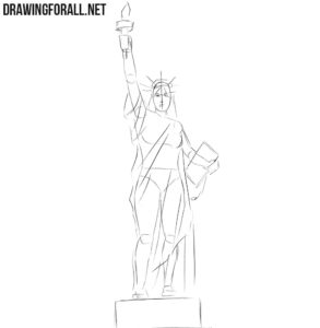 statue of liberty drawing step for step how to draw the statue of liberty statue of liberty for liberty of statue step drawing step